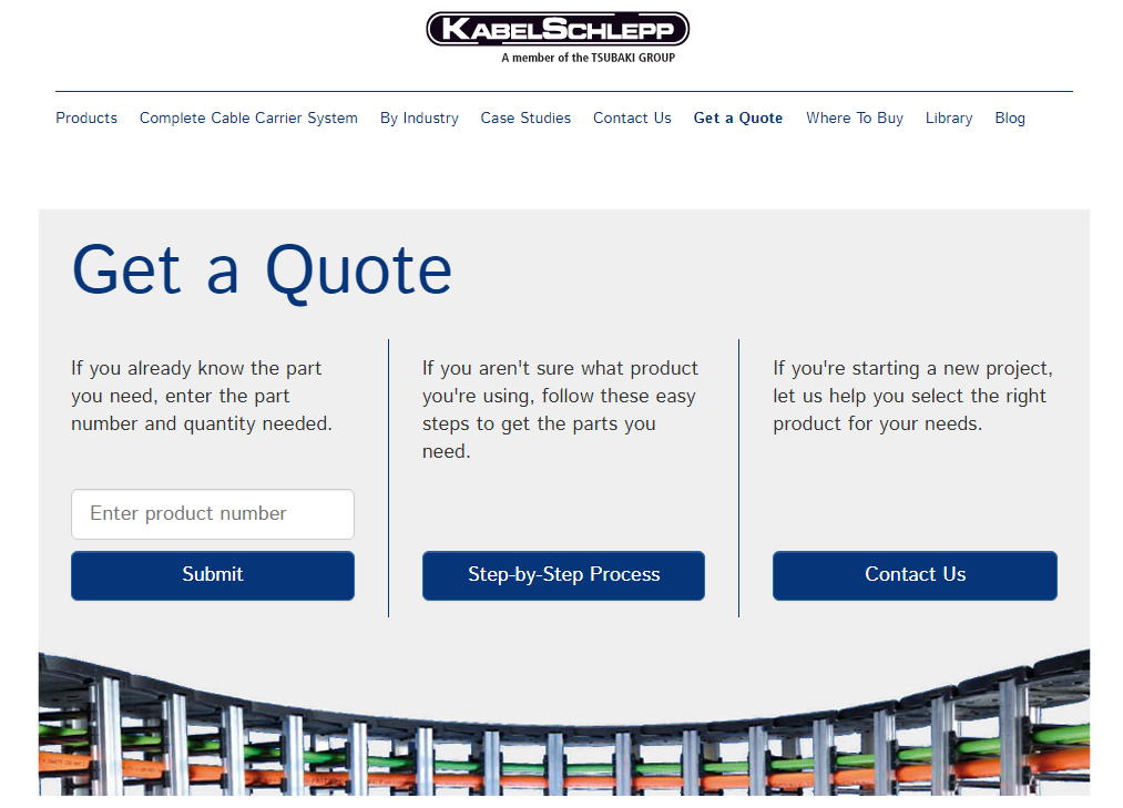 Get a quote Kabelschlepp