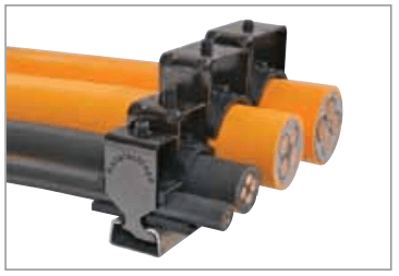Strain relief types for cable carriers from Tsubaki Canada