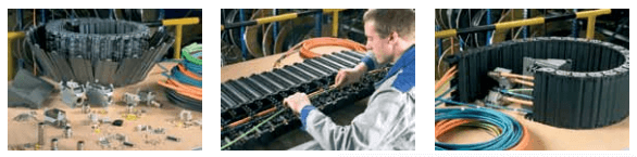 Totaltrax hose and cable carrier system from Kabelschlepp