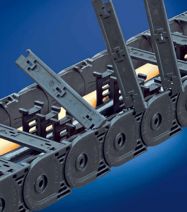 Varitrak MT series cable and hose carrier from Kabelschlepp