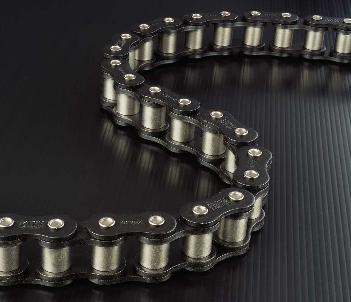 Chain links designed by Tsubaki Canada to create less mechanical wear