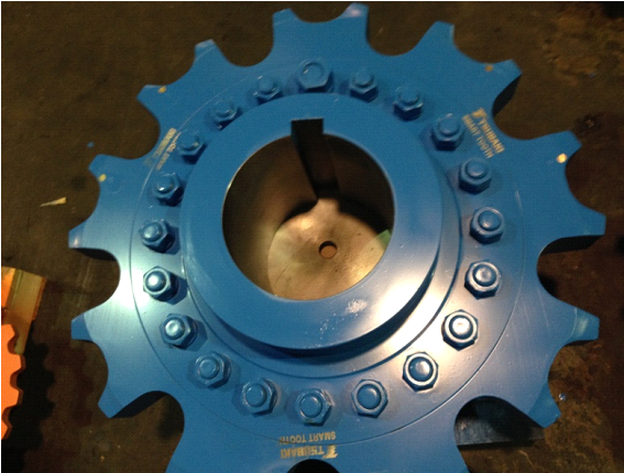 Engineering class sprocket outfitted with Tsubaki SMART TOOTH technology